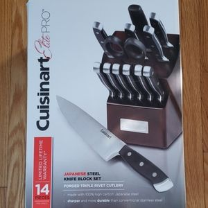 Cuisinart Elite pro Japanese steel knife block set